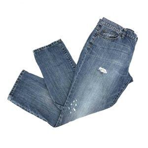 Ann Taylor Loft Boyfriend Straight Leg Jeans Sz 12